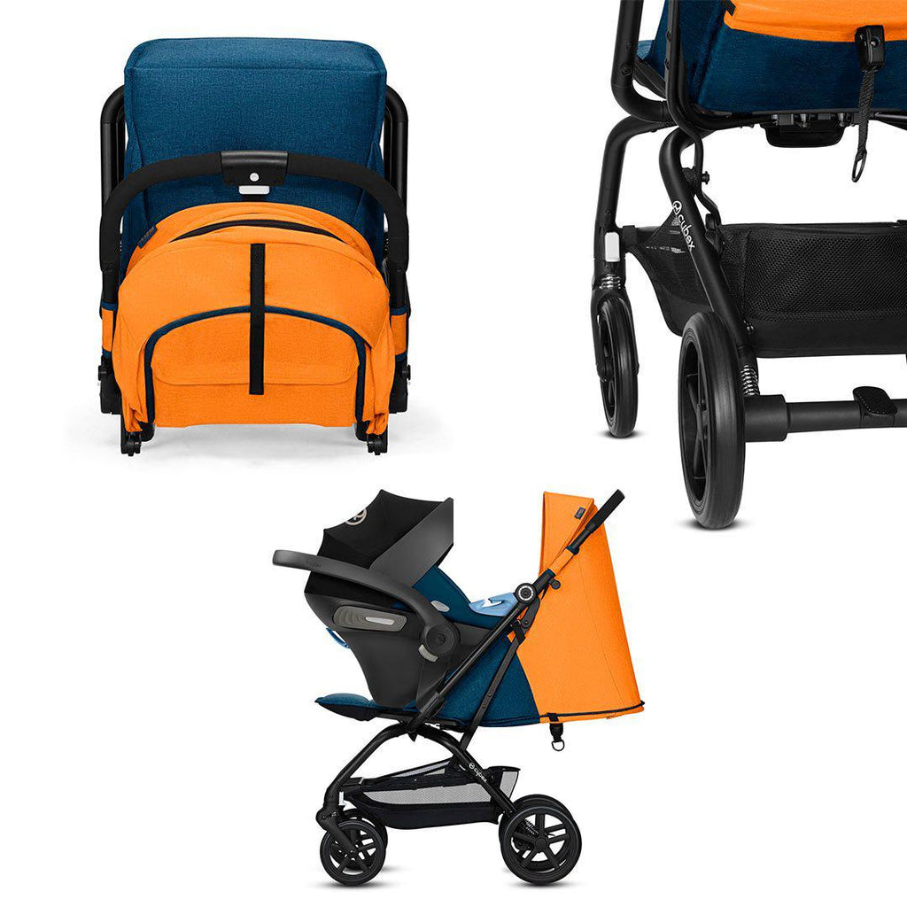 Cybex Eezy S+ Pushchair - Tropical Blue-Strollers- Natural Baby Shower