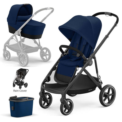 CYBEX Gazelle S Pushchair + Carrycot - Navy Blue-Strollers- Natural Baby Shower