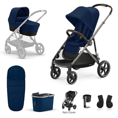 CYBEX Gazelle S Bundle - Navy Blue-Stroller Bundles- Natural Baby Shower