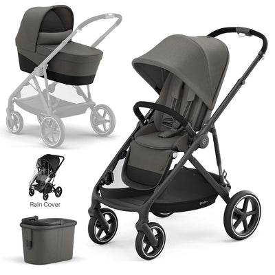 CYBEX Gazelle S Pushchair + Carrycot - Soho Grey-Strollers- Natural Baby Shower