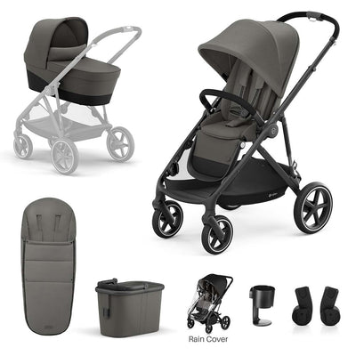CYBEX Gazelle S Bundle - Soho Grey-Stroller Bundles- Natural Baby Shower