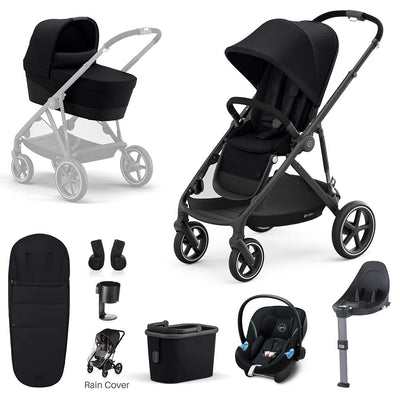 CYBEX Gazelle S Travel System - Deep Black-Travel Systems-Black- Natural Baby Shower