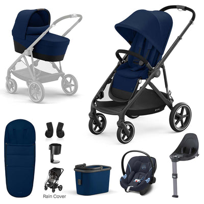 CYBEX Gazelle S Travel System - Navy Blue-Travel Systems-Black- Natural Baby Shower
