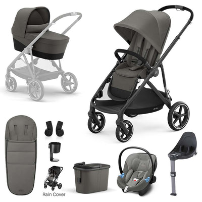 CYBEX Gazelle S Travel System - Soho Grey-Travel Systems-Black- Natural Baby Shower