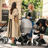 Cybex Priam Pushchair with Lux Seat - Black Chassis + Koi Lifestyle