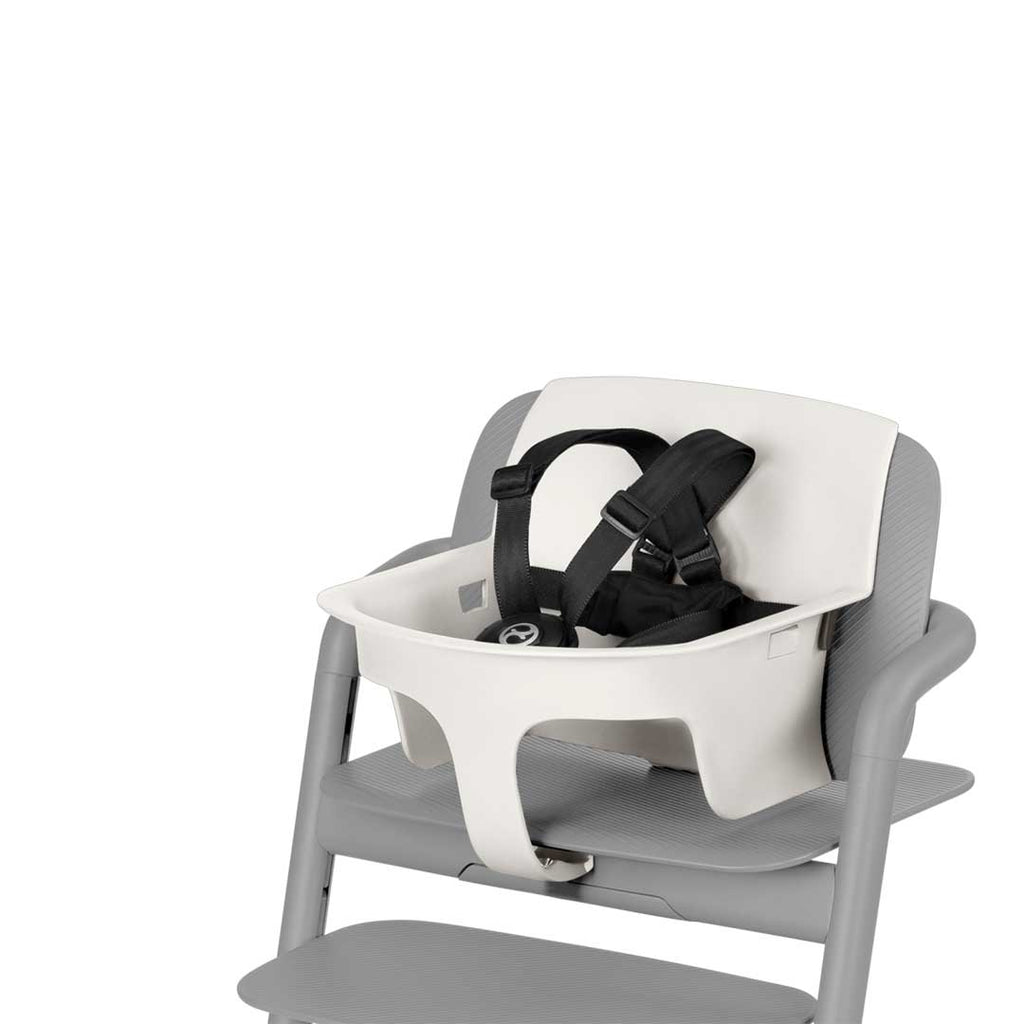 Cybex LEMO Baby Set - Porcelaine White-High Chair Safety Bars- Natural Baby Shower