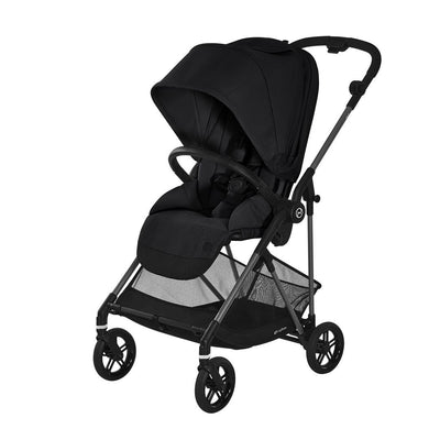 CYBEX Melio Carbon Stroller - Deep Black-Strollers- Natural Baby Shower