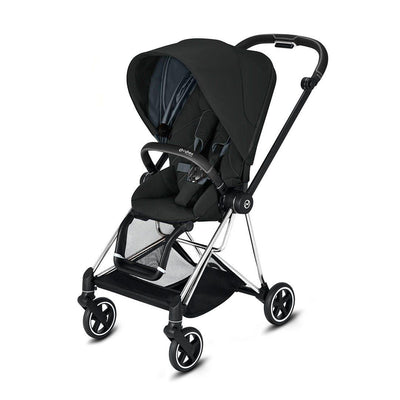 Cybex Mios Pushchair - 2020 - Deep Black-Strollers-Chrome Black-None- Natural Baby Shower