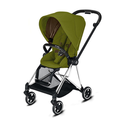 Cybex Mios Pushchair - 2020 - Khaki Green-Strollers-Chrome Black-None- Natural Baby Shower