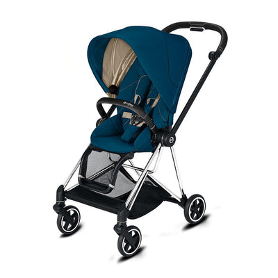 Cybex Mios Pushchair - 2020 - Mountain Blue-Strollers-Chrome Black-None- Natural Baby Shower
