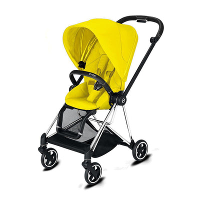 Cybex Mios Pushchair - 2020 - Mustard Yellow-Strollers-Chrome Black-None- Natural Baby Shower