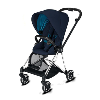 Cybex Mios Pushchair - 2020 - Nautical Blue-Strollers-Chrome Black-None- Natural Baby Shower