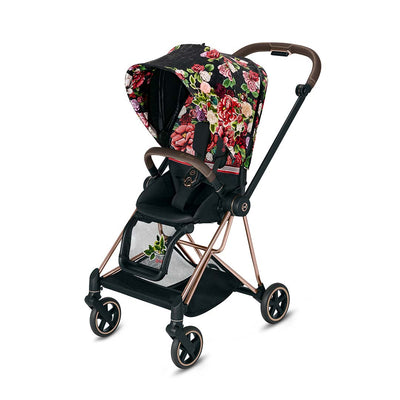 Cybex Mios Pushchair - Spring Blossom Dark-Strollers-Rose Gold- Natural Baby Shower