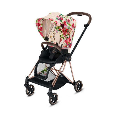 Cybex Mios Pushchair - Spring Blossom Light-Strollers-Rose Gold- Natural Baby Shower