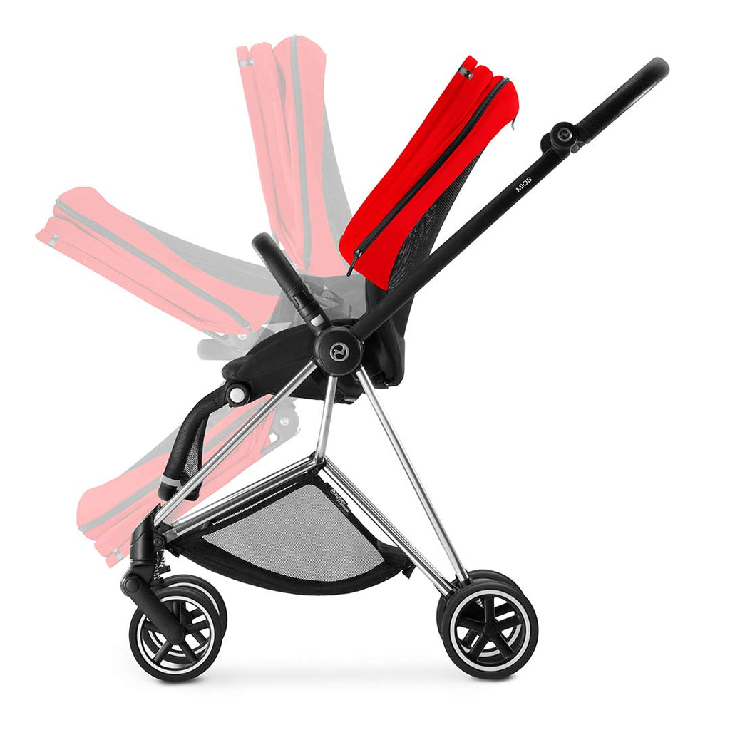 Cybex Mios Pushchair - Chrome + Infra Red 3