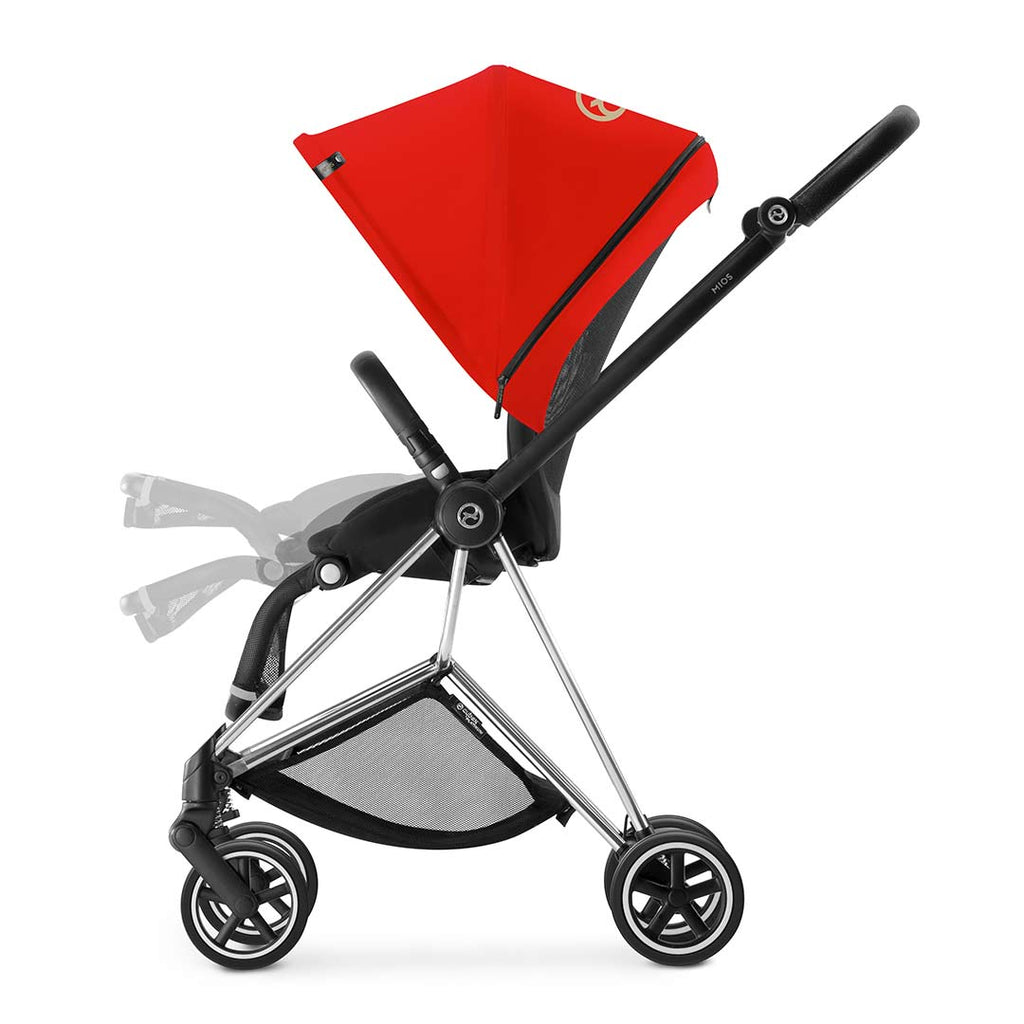 Cybex Mios Pushchair - Chrome + Infra Red 2