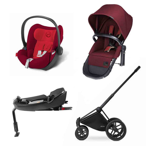 Cybex Priam 2-in-1 Travel System - Comfort - Hot & Spicy-Stroller Bundles-Black-All Terrain- Natural Baby Shower