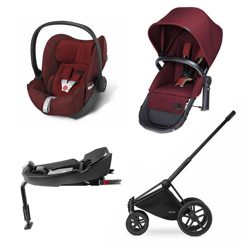 Cybex Priam 2-in-1 Travel System - Plus - Hot & Spicy-Stroller Bundles-Black-All Terrain- Natural Baby Shower