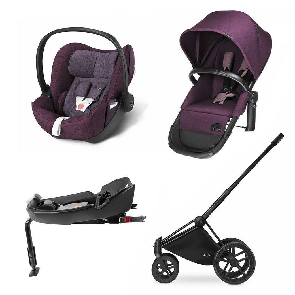 Cybex Priam 2-in-1 Travel System - Plus - Princess Pink/Grape Juice