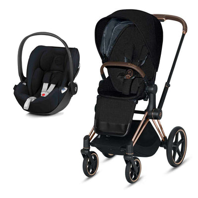 Cybex Priam Travel System - Rose Gold + Premium Black-Travel Systems- Natural Baby Shower