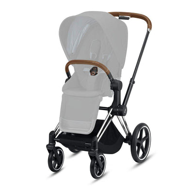 CYBEX Priam Frame with Seat Hardpart - Chrome & Brown-Stroller Frames- Natural Baby Shower