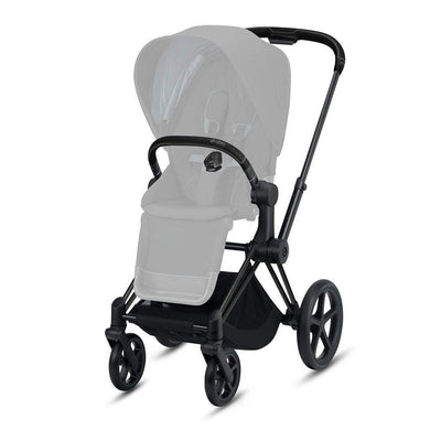 CYBEX Priam Frame with Seat Hardpart - Matt Black-Stroller Frames- Natural Baby Shower