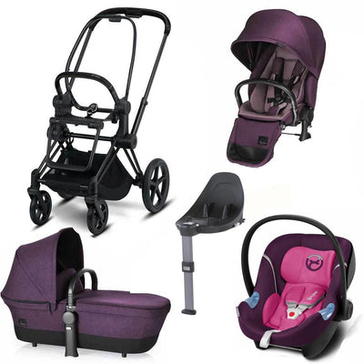 Cybex Priam Lux M Travel System - Princess Pink/Mystic Pink-Travel Systems- Natural Baby Shower