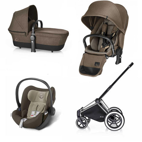 Cybex Priam Lux Travel System - Cashmere Beige-Stroller Bundles- Natural Baby Shower