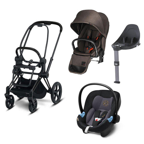 Cybex Priam Lux Travel System - Desert Khaki/Premium Black-Travel Systems- Natural Baby Shower