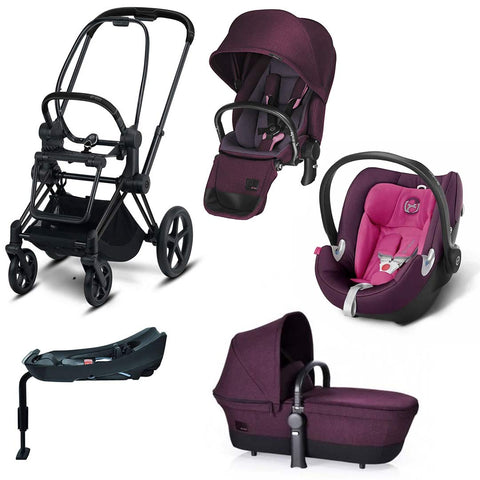 Cybex Priam Lux Travel System - Grape Juice/Mystic Pink-Travel Systems- Natural Baby Shower