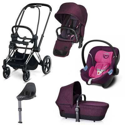 Cybex Priam Lux M Travel System - Grape Juice/Mystic Pink-Travel Systems- Natural Baby Shower