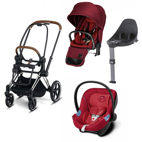 Cybex Priam Lux Travel System - Hot & Spicy/Infra Red-Travel Systems- Natural Baby Shower
