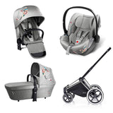Cybex Priam Lux Travel System - Koi-Stroller Bundles-Chrome-All Terrain- Natural Baby Shower