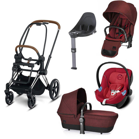 Cybex Priam Lux Travel System - Mars Red/Infra Red-Travel Systems- Natural Baby Shower