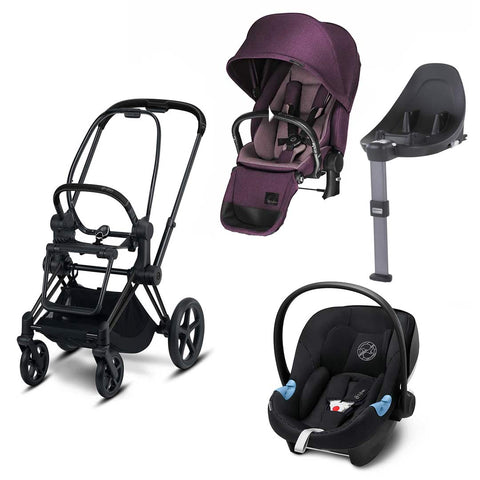 Cybex Priam Lux Travel System - Princess Pink/Urban Black-Travel Systems- Natural Baby Shower