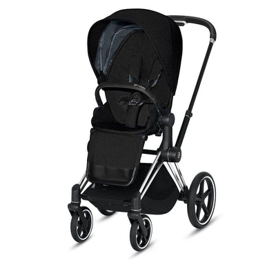 Cybex Priam Pushchair - 2020 - Deep Black-Strollers-Chrome Black-None- Natural Baby Shower