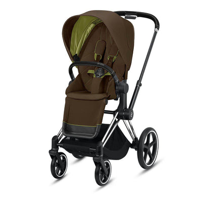 CYBEX Priam Pushchair - 2020 - Khaki Green-Strollers-Chrome Black-None- Natural Baby Shower