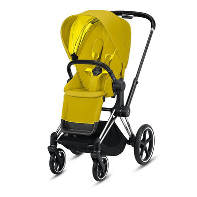 CYBEX Priam Pushchair - 2020 - Mustard Yellow-Strollers-Chrome Black-None- Natural Baby Shower