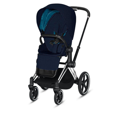 Cybex Priam Pushchair - 2020 - Nautical Blue-Strollers-Chrome Black-None- Natural Baby Shower
