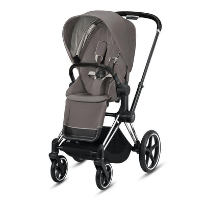 Cybex Priam Pushchair - 2020 - Soho Grey-Strollers-Chrome Black-None- Natural Baby Shower