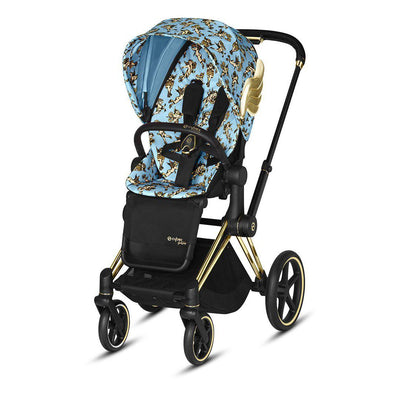 CYBEX Priam Pushchair - Cherub Blue by Jeremy Scott (2019)-Strollers-Gold-None- Natural Baby Shower