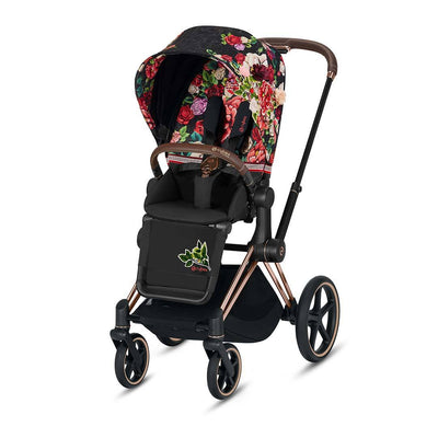 Cybex ePriam Pushchair - Spring Blossom Dark-Strollers-Rose Gold-None- Natural Baby Shower
