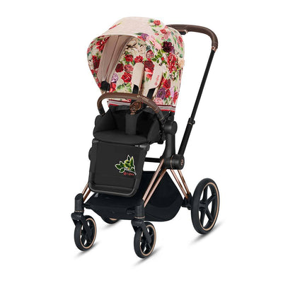 Cybex ePriam Pushchair - Spring Blossom Light-Strollers-Rose Gold-None- Natural Baby Shower
