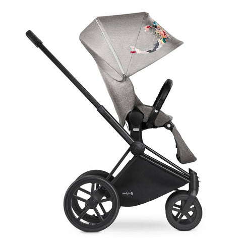 Cybex Priam Pushchair with Lux Seat - Black Chassis + Koi