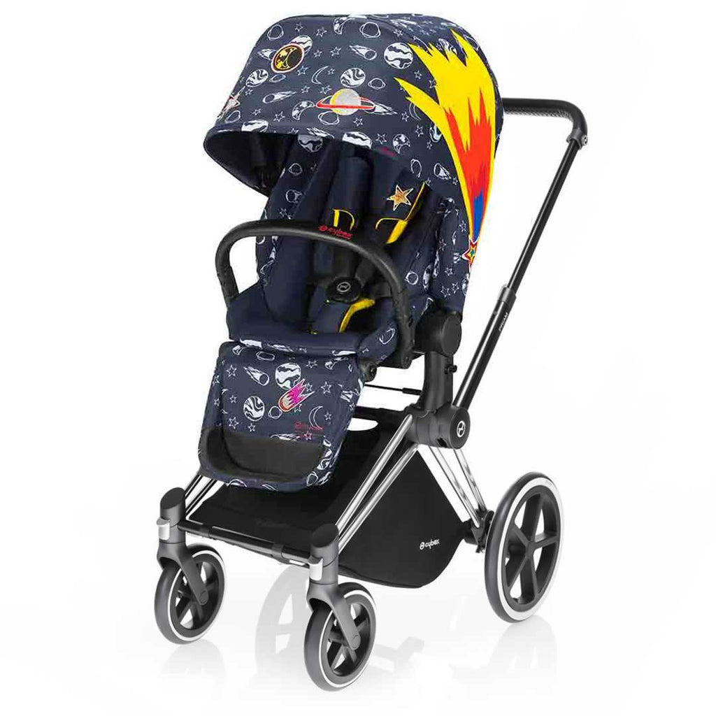 Cybex Priam Pushchair with Lux Seat - Chrome Chassis + Space Rocket