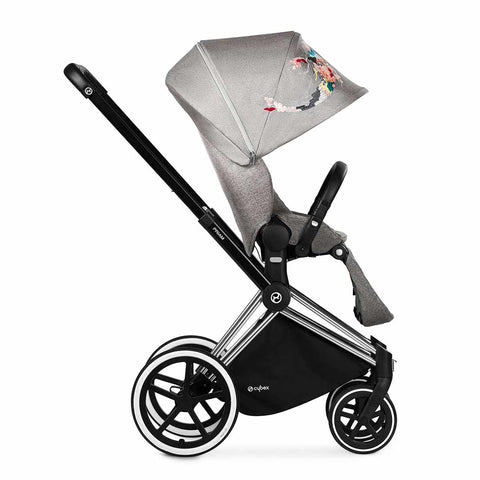 Cybex Priam Pushchair with Lux Seat in Chrome Chassis + Koi