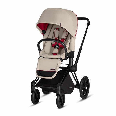 Cybex Priam Pushchair with Lux Seat - Scduderia Ferrari - Silver Grey