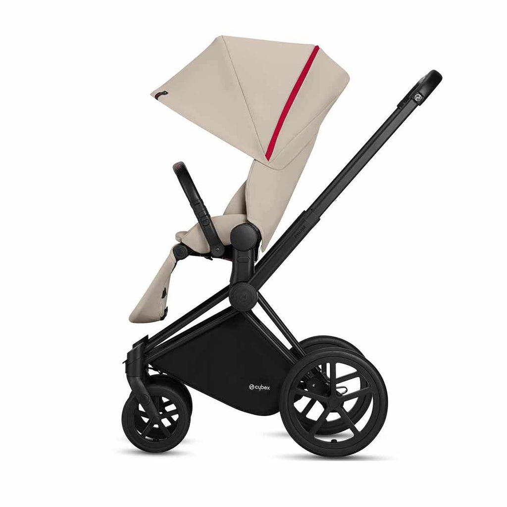 Cybex Priam Pushchair with Lux Seat - Scuderia Ferrari - Silver Grey-Strollers- Natural Baby Shower