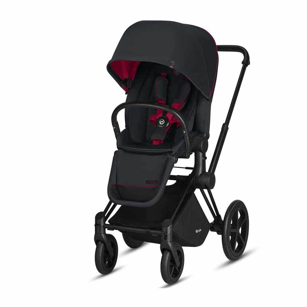 Cybex Priam Pushchair with Lux Seat - Scuderia Ferrari - Victory Black-Strollers- Natural Baby Shower