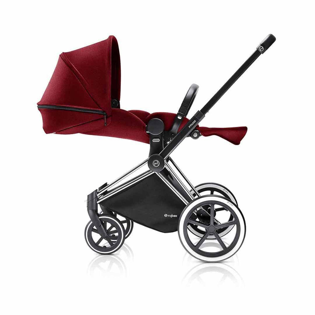 Cybex Priam Pushchair with Lux Seat - Black Chassis + Infra Red Lie flat